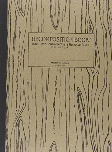 Woodgrain Decomposition Book: College-Ruled Composition Notebook With 100% Post-consumer-waste Recycled Pages