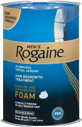 Cheapest Rogaine for Men Hair Regrowth Treatment, Easy-to-Use Foam, 2.11 Ounce, (3 month supply)
