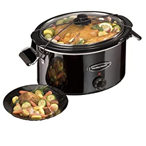 Black Ice Collection 7 Qt Slow Cooker by Hamilton Beach
