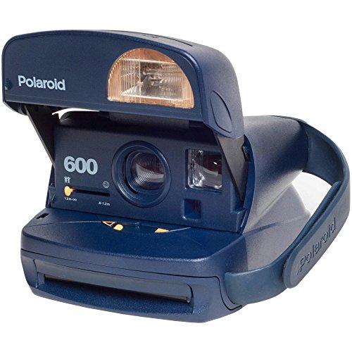 Polaroid 600 Round Instant Film Camera (Blue) (Certified Refurbished) 0