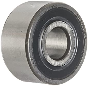 SKF 32 A Series Double Row Angular Contact Ball Bearing, 30° Contact Angle, Double Sealed, Lithium Grease, Reinforced Polyamide Cage, Normal Clearance