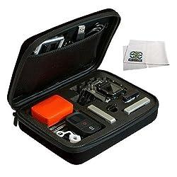 Portable Rugged Hard Case with Pre-cut EVA Foam Interior for GoPro Hero, Hero2, Hero3, Hero3+ & Hero4 and it s accessories