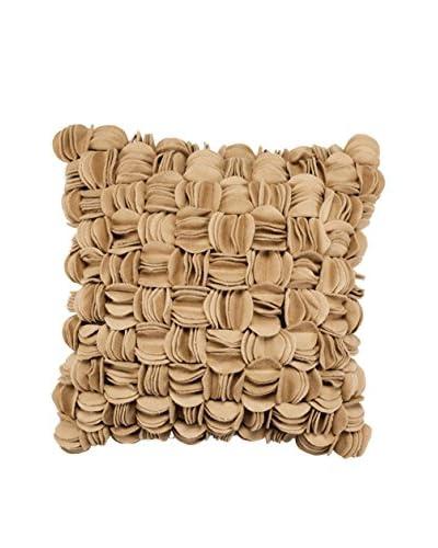Bandhini Homewear Design Soft Herringbone Throw Pillow, Light Beige