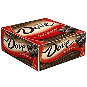 DOVE Dark Chocolate Singles Size Candy Bar 1.44-Ounce Bar 18-Count Box