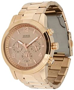 GUESS U16003G1 Bold Contemporary Chronograph Watch - Rose
