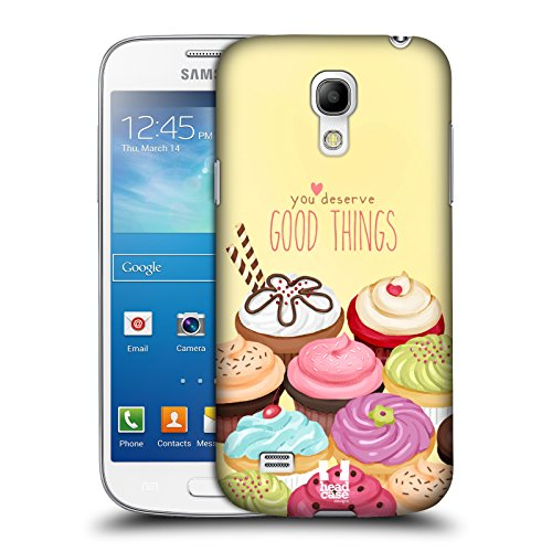 Head Case Designs Assortment Cupcake Happiness Protective Snap-on Hard Back Case Cover for Samsung Galaxy S4 mini I9190 Duos I9192