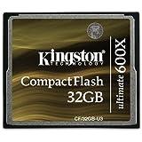 Kingston CF/32GB-U3 - Tarjeta de memoria CompactFlash Ultimate 600x, 32 GB