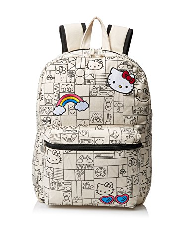 Hello-Kitty-Girls-Natural-Canvas-16-Inch-Backpack-Multi