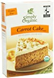 Simply Organic Carrot Cake Mix, 11.6-Ounce Boxes  (Pack of 3)