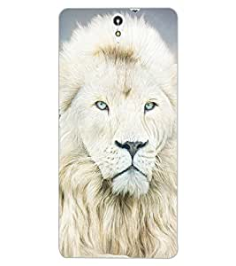ColourCraft Lion Look Design Back Case Cover for SONY XPERIA C5 ULTRA