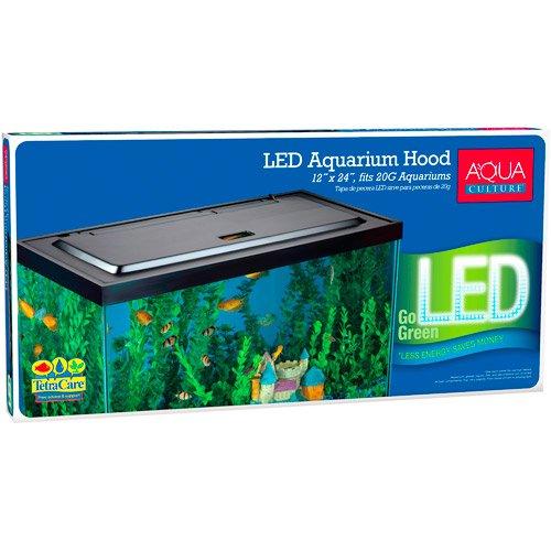 Aqua Culture LED Aquarium Hood for 20/55 Gallon Aquariums - Tetra (Aquarium Hood 55 Gal compare prices)