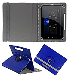 Acm Rotating 360° Leather Flip Case For Swipe Halo Edge Tablet Stand Cover Holder Dark Blue