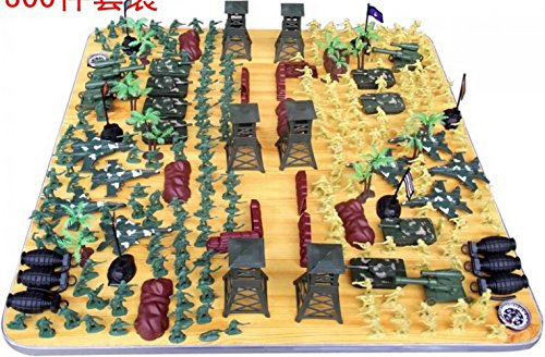 Monkey King 300 pcs/set toys WWII soldier military model action figures army kit sand table model for kid children