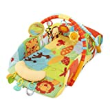 Bright Starts Baby's Play Place Uniquely Designed Playmat With 8 Fun Toys - Swingin' Safari