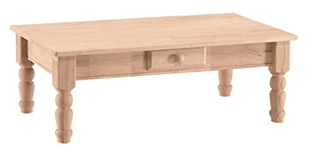 International Concepts BJ7TC Traditional Coffee Table, Unfinished