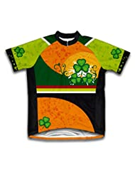 St. Patrick's Day Lucky Leaf Short Sleeve Cycling Jersey for Women
