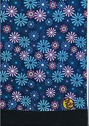 Multifunction Half Fleece Neckwarmer, Snood, Hat, Scarf and Hood with Purple flower print by Monogram