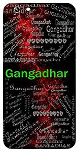 Gangadhar (One Who Wears Ganga (Lord Shiva), Ocean) Name & Sign Printed All over customize & Personalized!! Protective back cover for your Smart Phone : Samsung Galaxy A-7