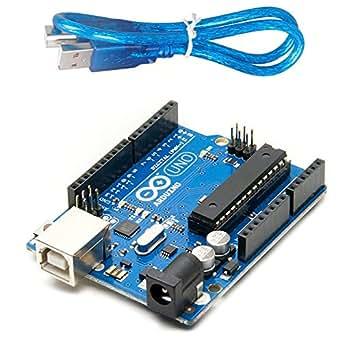 Arduino Uno R3 ATmega328P ATMEGA16U2 Compatible with USB Cable