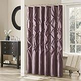 Laurel Polyester Shower Curtain Color: Plum