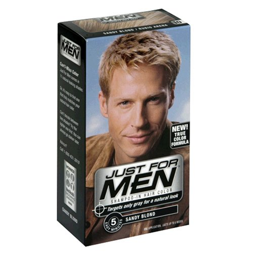 Just for Men Shampoo-In Hair Color, Sandy Blond 10, 1 application, (Case of 3)