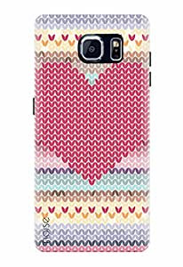 Noise Red Mosiac Printed Cover for Samsung Galaxy S7
