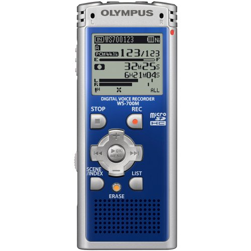 Olympus 142625 WS-700M Digital Voice Recorder (Blue)