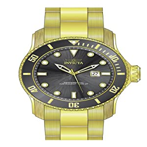 Invicta Men's 15353 Pro Diver Quartz 3 Hand Grey Dial Watch