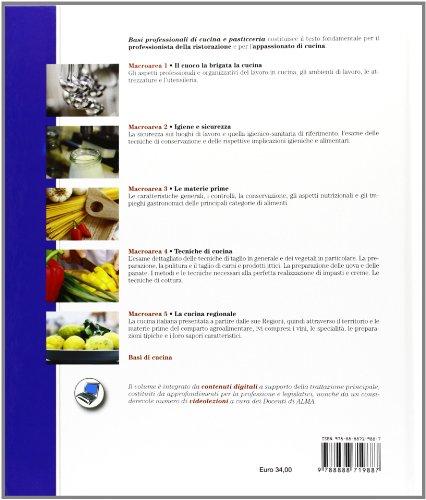 Libro basi professionali di cucina e pasticceria con for Libri di cucina professionali pdf