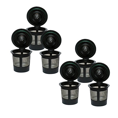 Premier Reusable Coffee Filter Pods Compatible w/ Keurig Kcup Coffee Brewer Series, Set of 6 (Keurig K Cups Container compare prices)