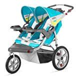 InStep Grand Safari Double Swivel Stroller, Blue/Yellow