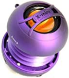 XMI X-Mini Uno Portable Mini Speaker with 3.5mm Jack Compatible with iPhone/iPad/iPod/Smartphones/Tablets/MP3 Player/Laptop - Purple