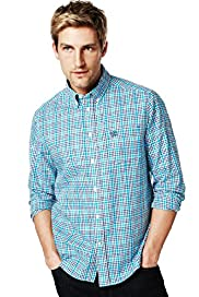 Blue Harbour Pure Cotton Over Grid Checked Shirt