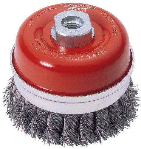 Draper Expert 52633 100 mm x M14 Twist Knot Wire Cup Brush by Draper