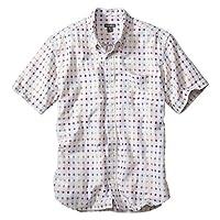 (エディー・バウアー) Eddie Bauer 半袖ダブルガーゼブロックチェックボタンダウンシャツ