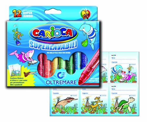 Carioca Super Jumbo Maxi-Point Superwashable Markers (Set of 12 Markers)
