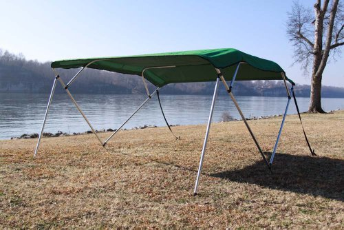 New Green Vortex Pontoon / Deck Boat 4 Bow Bimini