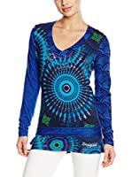 Desigual Camiseta Manga Larga Sarita Rep (Azul)
