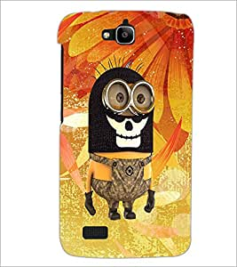 PrintDhaba Funny Image D-4159 Back Case Cover for HUAWEI HONOR HOLLY (Multi-Coloured)