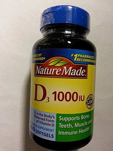 Nature Made Vitamin D 1000iu 300 Softgels (Nature Made Vitamin D3 1000iu compare prices)
