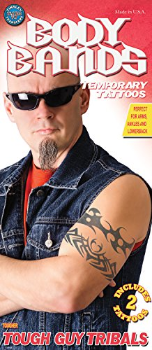 Tinsley Transfers Tough Guy Tribals Temporary Tattoo FX Kit