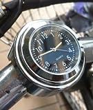 オートバイ バイク用 アナログ時計 バークロック 防水 (ブラック)…