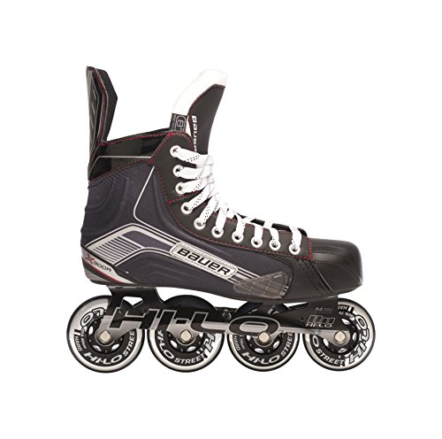 Bauer-1047269-Junior-Vapor-X300R-Roller-Hockey-Skate-Black-Size-4