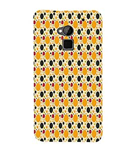 Button Pattern 3D Hard Polycarbonate Designer Back Case Cover for HTC One Max