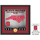 "NCAA North Carolina State Wolfpack ""State"" Bronze Coin Photo Mint, 18 "" X 14"" X 3"", Bronze"
