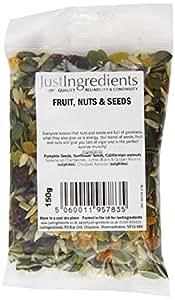 JustIngredients Essential Fruit, Nuts& Seeds 150g (Pack of 6)