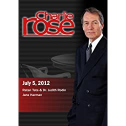 Charlie Rose - Ratan Tata & Dr. Judith Rodin / Jane Harman (July 5, 2012)