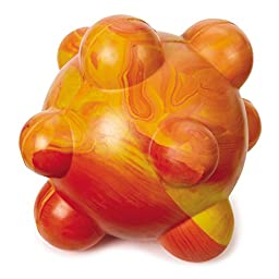 Grriggles Swirleez Ball Dog Toys, Orange, 3.5\