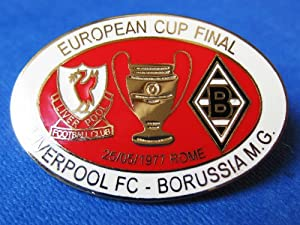 Football Pin Soft Enamel Badges: Liverpool FC V Borussia Munchengladbach : European Cup Final 1977