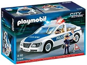 Playmobil 5184 - Policía: coche de policía luces